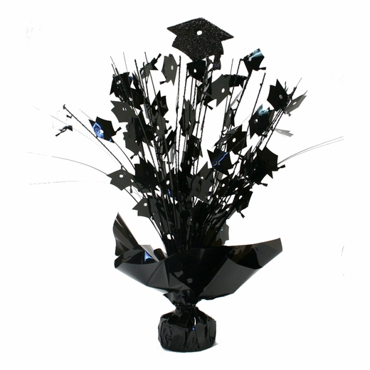 Black Graduation Foil Centerpiece