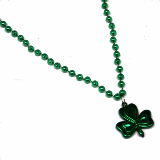 St Pats Shamrock Pendant Bead Necklaces
