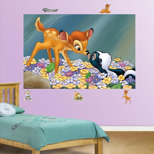 Bambi And Flower the Skunk Mural-Fathead