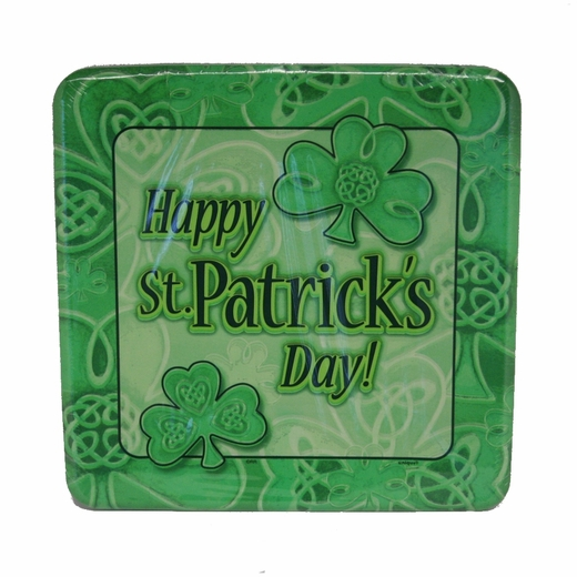 St. Pat's Shamrocks And Clovers Plates - 8 5/8""
