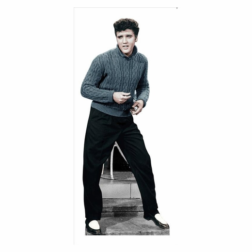 Elvis Blue Sweater Lifesized Standup