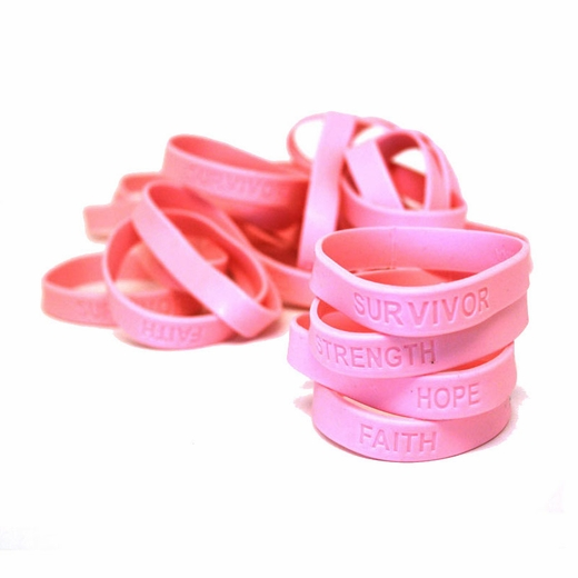 Breast Cancer Awareness Rubber Bracelets