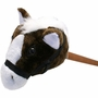 Plush Stick Horse, 30in Brown