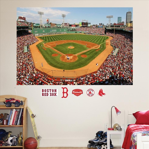 Boston red sox fenway park stadium mural fathead for Boston wall mural
