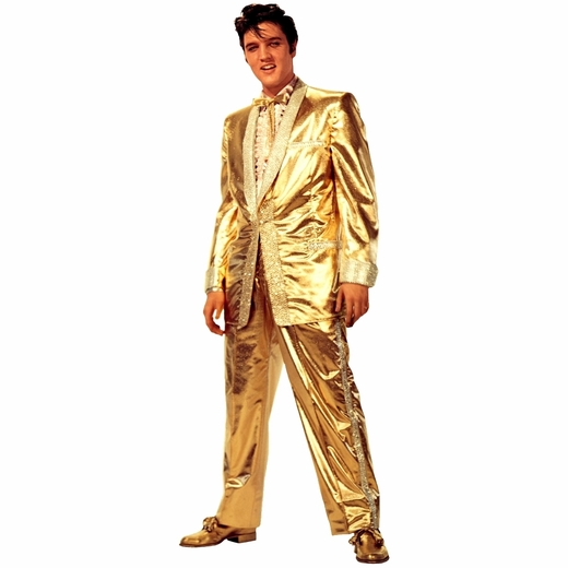 Elvis Presley-Gold Lame Suit Lifesized Standup
