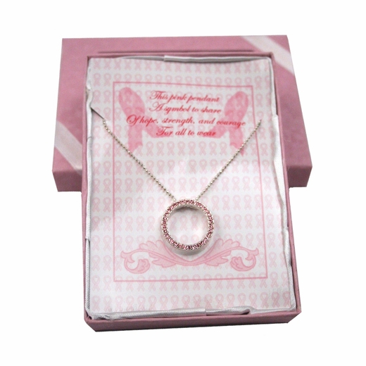Breast Cancer Awareness Pendant With Gift Box