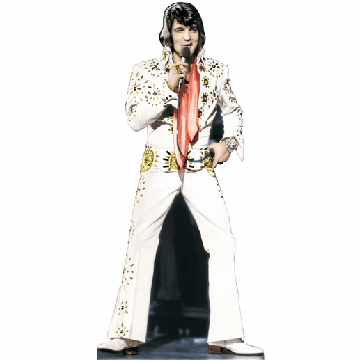 Elvis Presley-White Jumpsuit Lifesized Standup