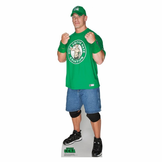 John Cena Green Shirt -WWE Lifesized Standup