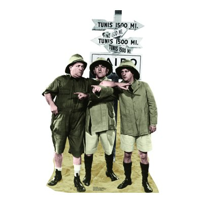 Three Stooges Safari Lifesized Standup