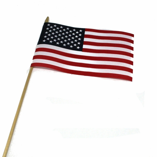 "Made In The USA 8"" X 12"" American Flag"