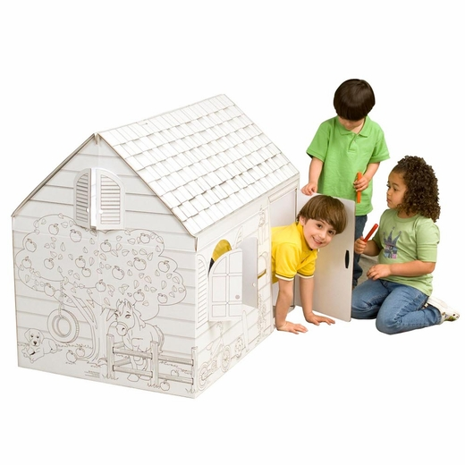 Color Your Own Hide And Seek Farm House Playhouse