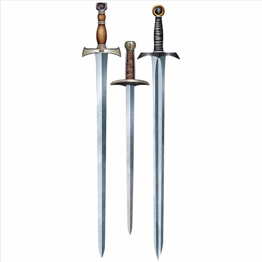 Medieval Knight Sword Cutouts