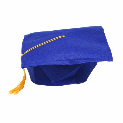 Blue Felt Graduation Cap
