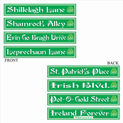 St Patrick's Day Street Signs
