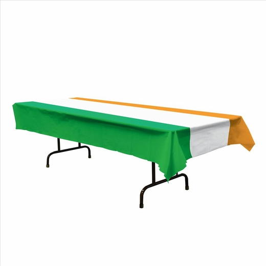 Irish Flag Plastic Table Cover - Rectangle
