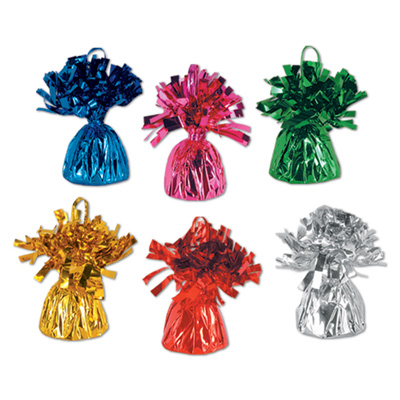 Metallic Assorted Colored Balloon Weights