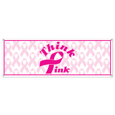 Think Pink Sign Banner