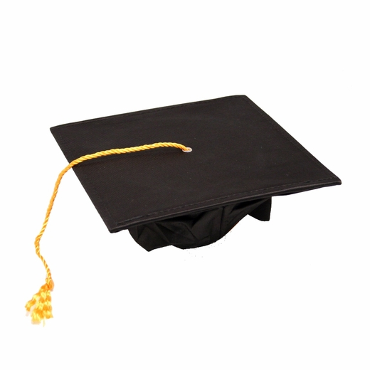 Deluxe Black Graduation Cap