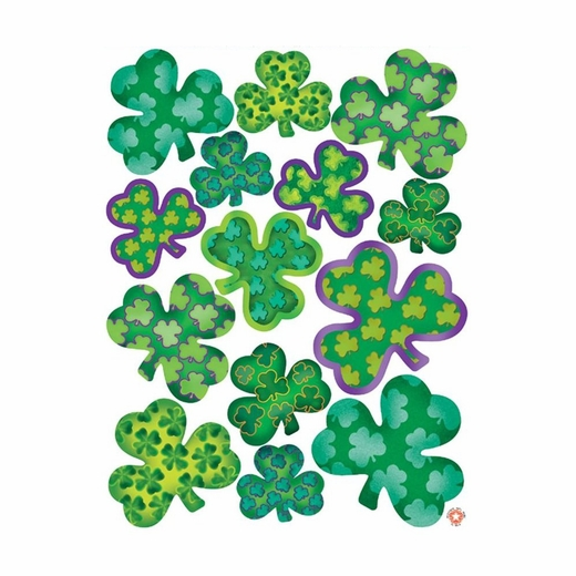 Deluxe St Patrick's Day Shamrock Clings