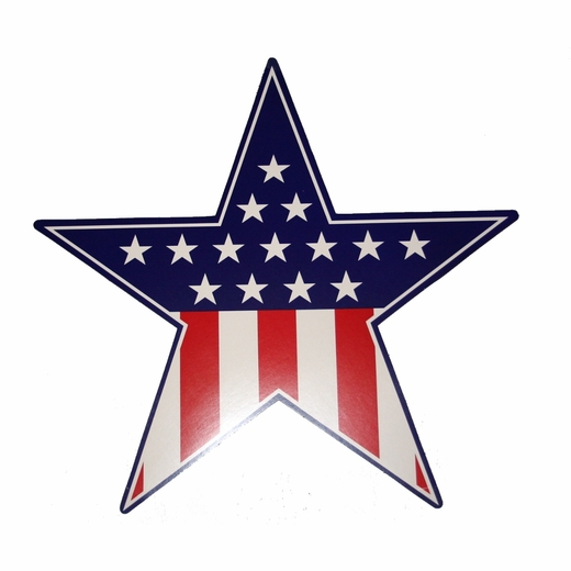Red White And Blue Patriotic Star Cutout