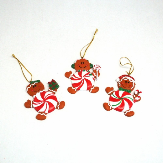 Peppermint Gingerbread Man Ornaments