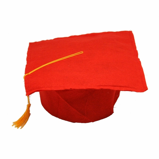 Red Felt Graduation Cap