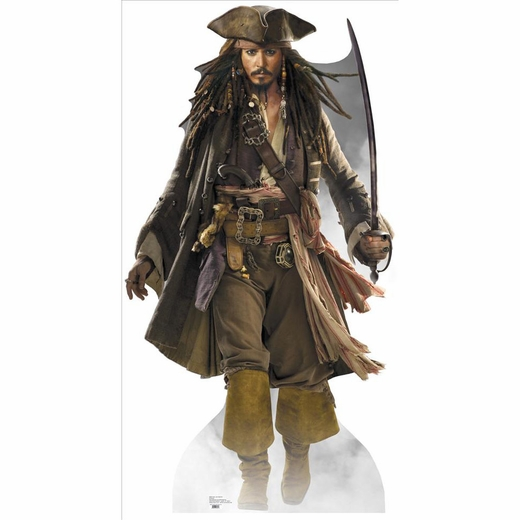 Captain Jack Sparrow With Sword Lifesized Standup
