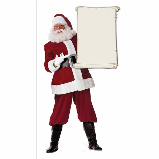 Santa Claus With Blank List Lifesized Standup