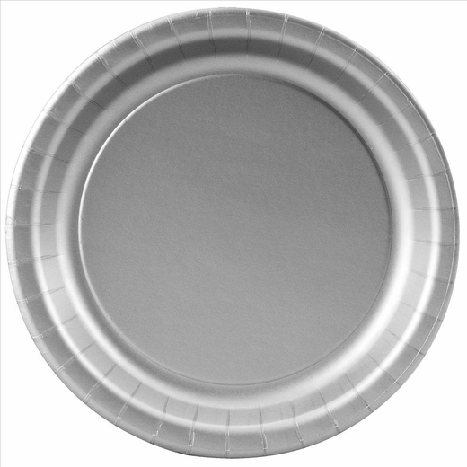 Silver Paper Plates - 7""