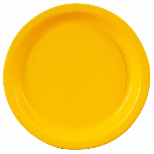 Yellow Paper Plates - 7""