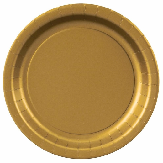 Gold Paper Plates - 8 5/8""