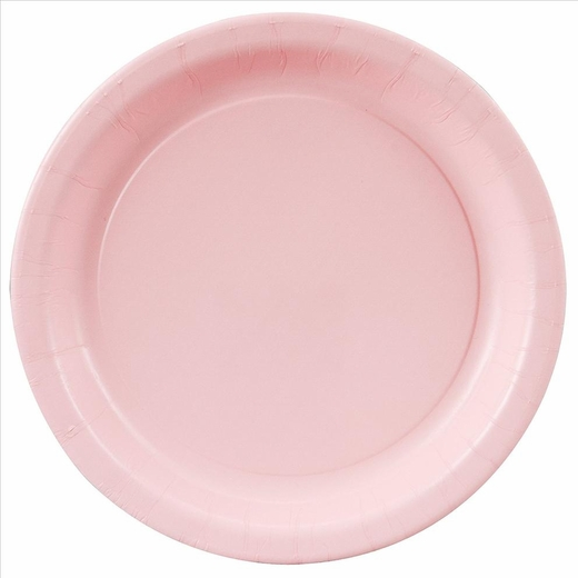 """Pink Paper Plates - 8 5/8"""""""