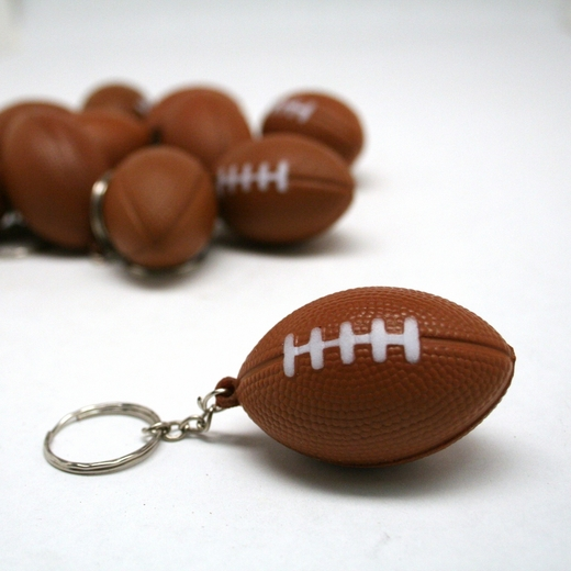 Foam Football Keychains