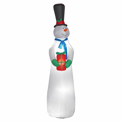 Airblown Sky High Snowman With Present