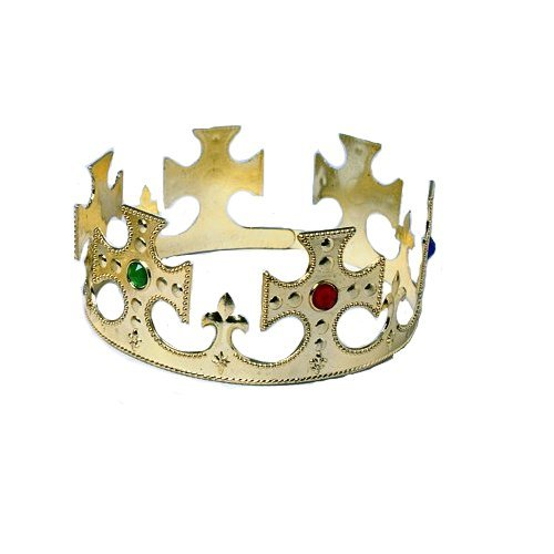 Gold King Crown - Plastic