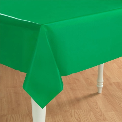 Green Plastic Table Cover - Rectangle