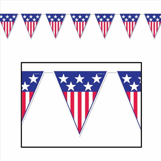 Stars And Stripes Pennant Banner