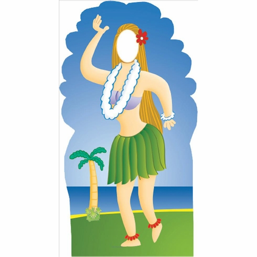 Hula Girl Stand In Lifesized Standup