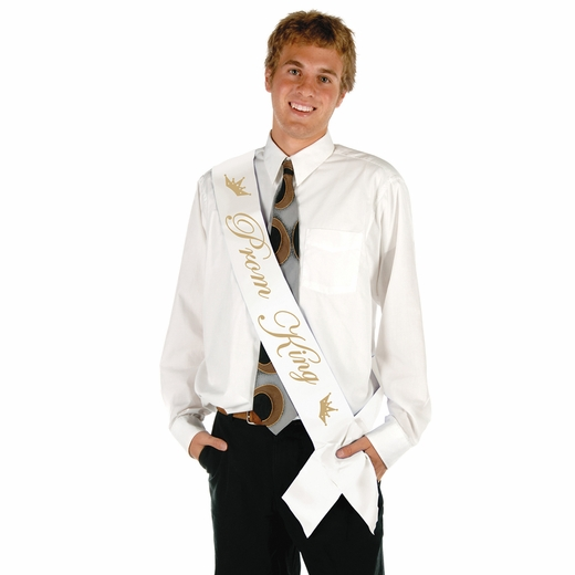 """Prom King"" Satin Sash"
