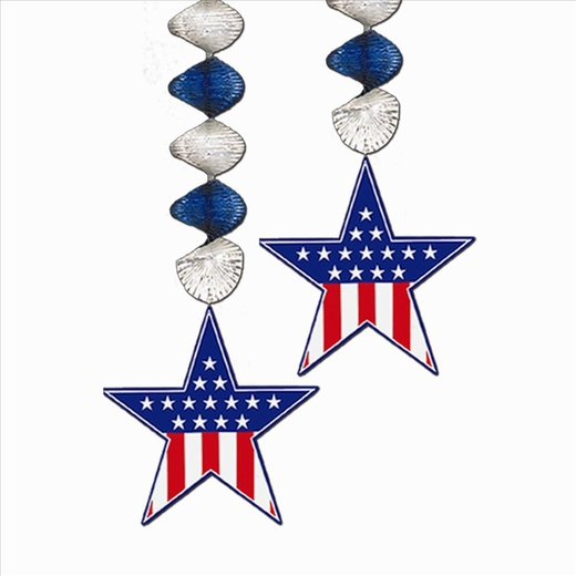 Red White And Blue Patriotic Danglers