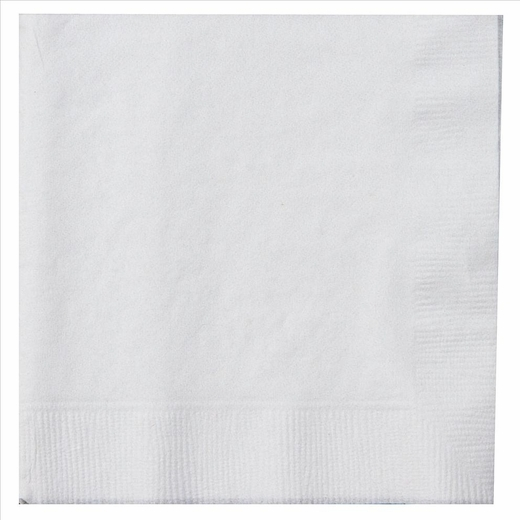 Paper Lunch Napkins - White