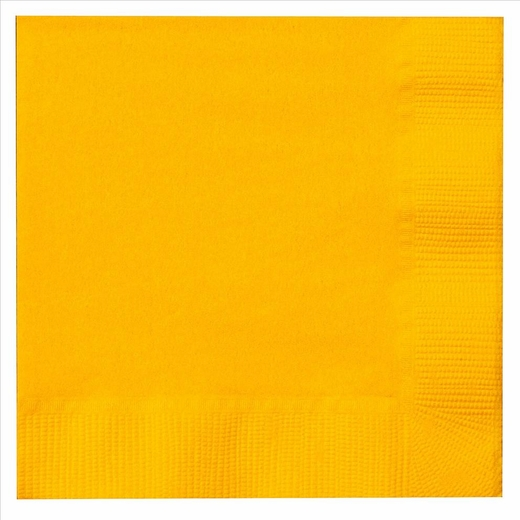 Paper Beverage Napkins - Yellow