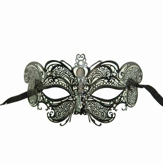 Decorative Metal Black Venetian Mask