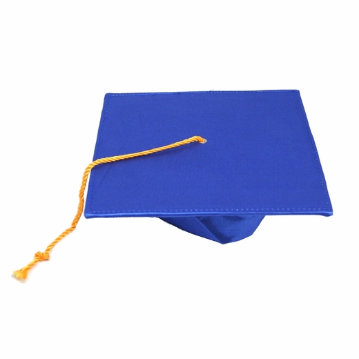 Deluxe Blue Graduation Cap