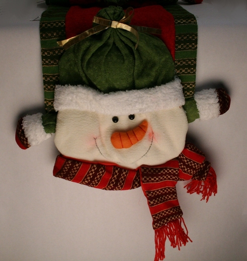 Plush Snowman Table Runner