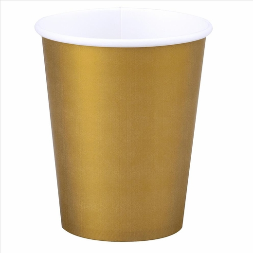 Gold Paper Cups - 12oz
