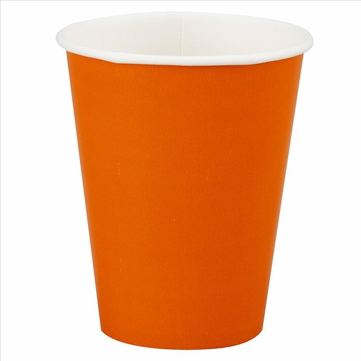 12oz Orange Paper Cups