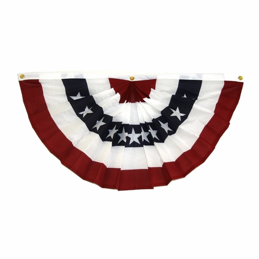 "Made In The USA 36"" Red White And Blue  American Flag Fan Bunting"