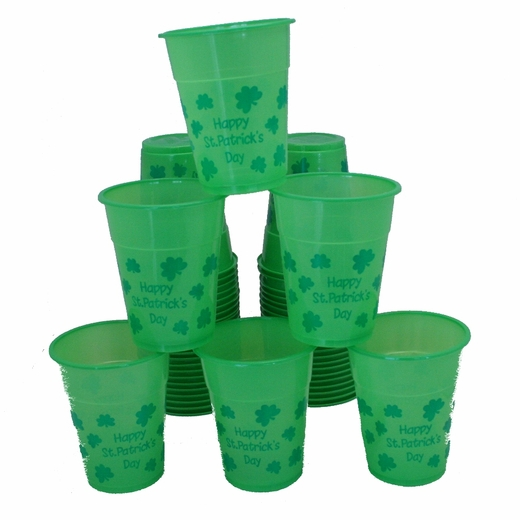 St. Patrick's Day Disposable Cups - Plastic
