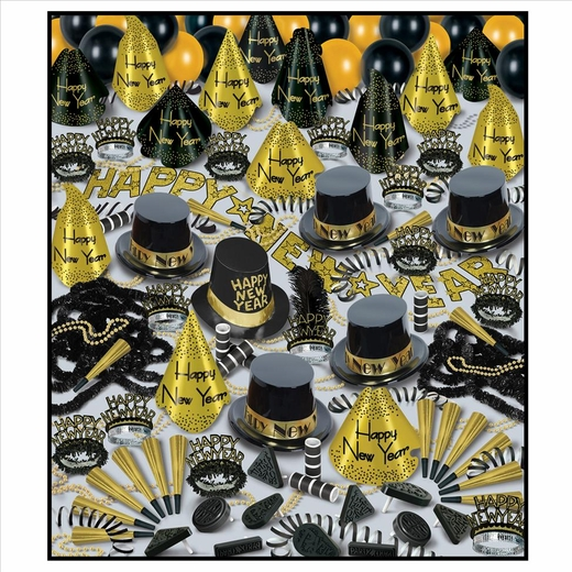 Golden Bonanza New Years Eve Party Kit For 100